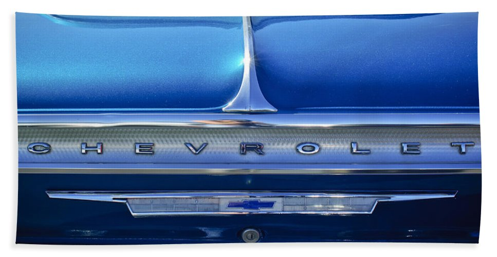 1964 Chevrolet Impala Ss Hand Towel featuring the photograph 1964 Chevrolet Impala Ss by Jill Reger