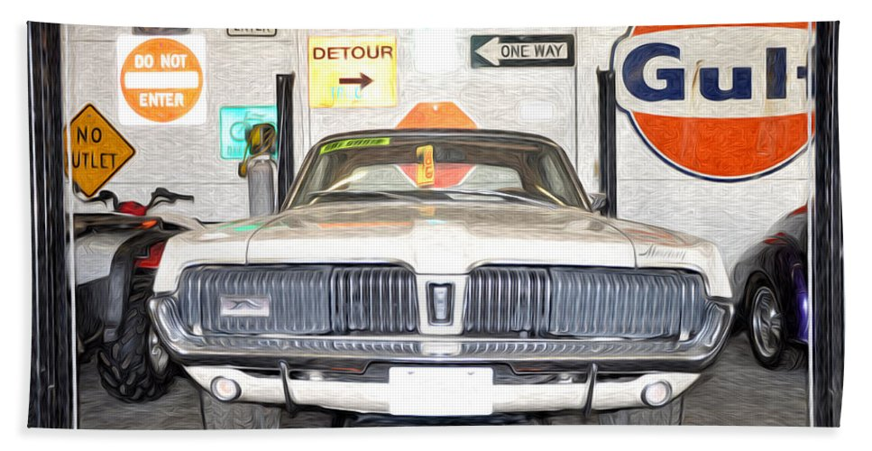 1967 Hand Towel featuring the photograph 1967 Mercury Cougar by Bill Cannon