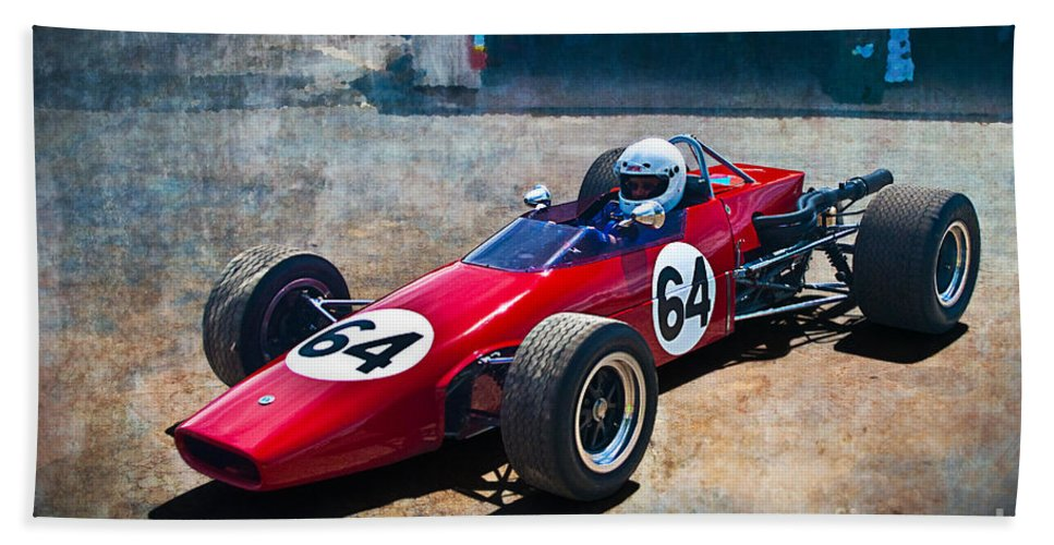 Historic Bath Sheet featuring the photograph 1968 Elfin 600 by Stuart Row