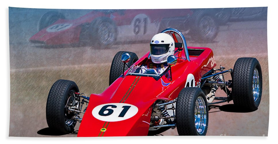 Formula Bath Sheet featuring the photograph 1969 Lotus 61 Formula Ford by Stuart Row