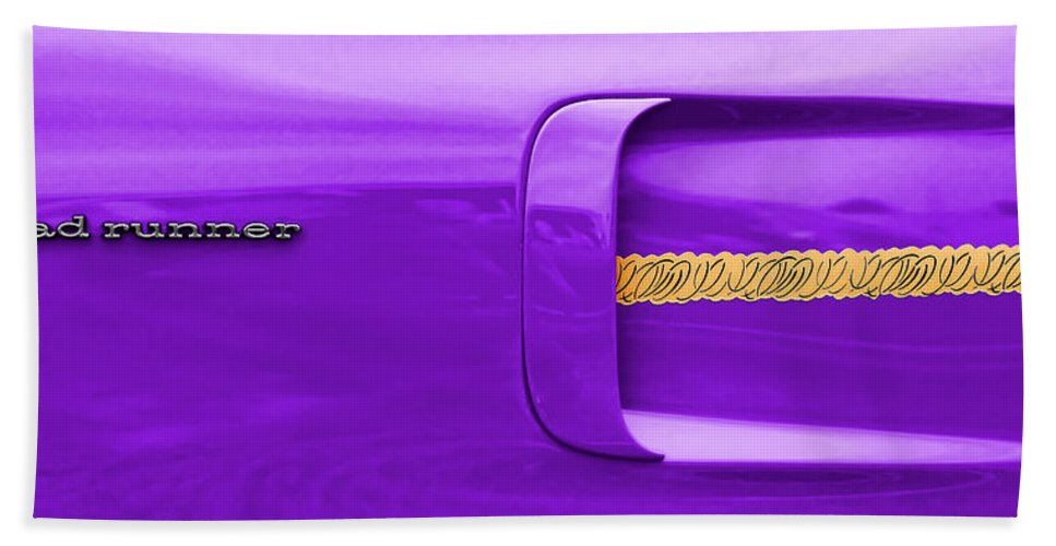 1970 Hand Towel featuring the photograph 1970 Plum Crazy Plymouth Road Runner by Gordon Dean II