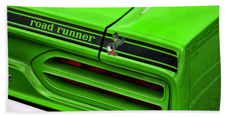 1970 Hand Towel featuring the photograph 1970 Plymouth Road Runner - Sublime Green by Gordon Dean II