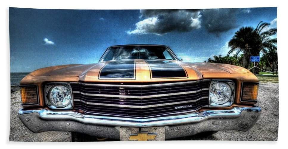 1972 Bath Sheet featuring the photograph 1972 Chevelle by David Morefield