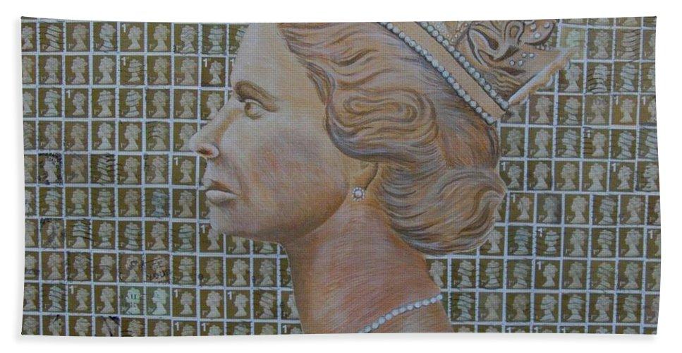 Queen Bath Sheet featuring the painting 1st Class Queen by Gary Hogben