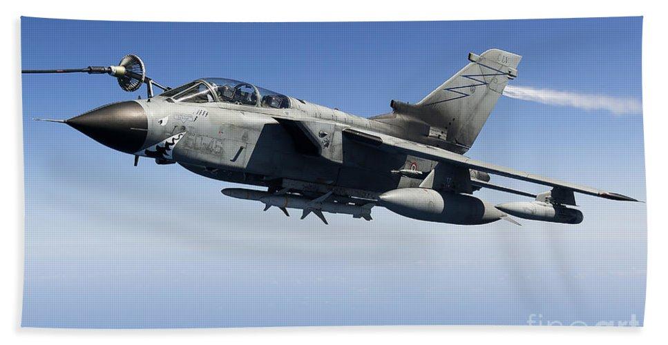 50 Stormo Bath Sheet featuring the photograph An Italian Air Force Tornado Ids by Gert Kromhout