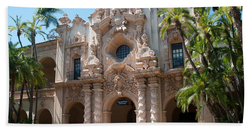 Balboa Park Bath Sheet featuring the digital art Balboa Park San Diego by Carol Ailles