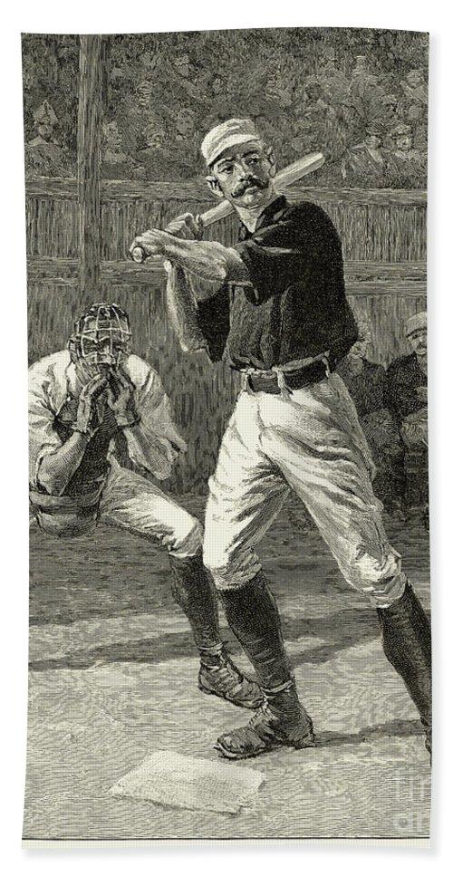 1888 Bath Sheet featuring the photograph Baseball, 1888 by Granger