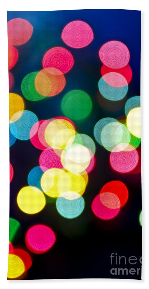 Blurred Bath Towel featuring the photograph Blurred Christmas Lights by Elena Elisseeva