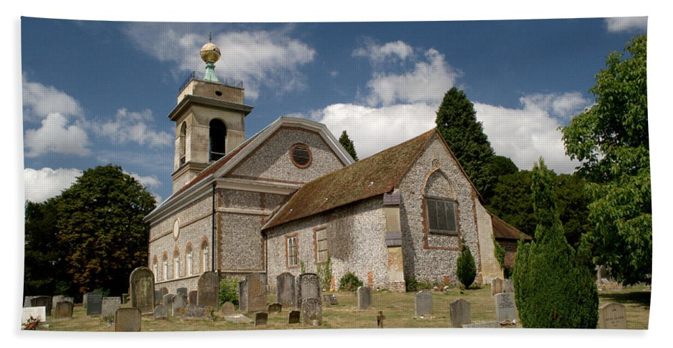 St. Lawrence Bath Sheet featuring the photograph Church Of St. Lawrence West Wycombe by Chris Day