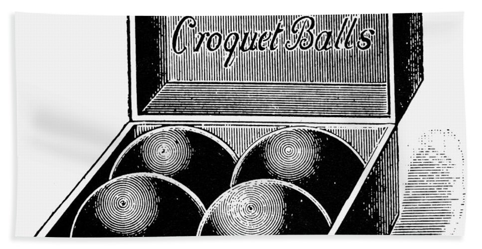 1890s Hand Towel featuring the photograph Croquet, C1900 by Granger