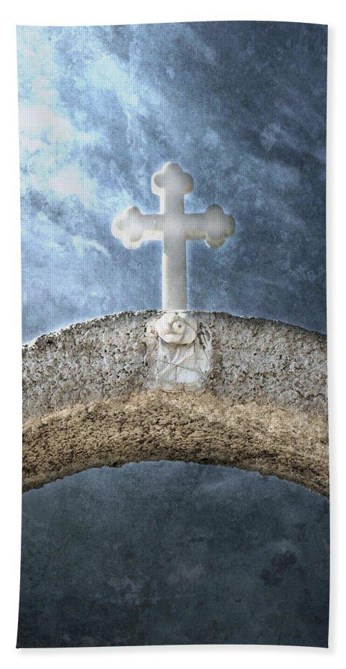 Cross Bath Sheet featuring the photograph Cross by Joana Kruse
