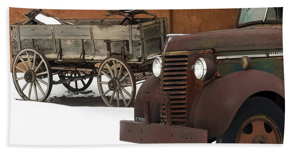 Truck Bath Sheet featuring the photograph Even Older by Terry Fiala
