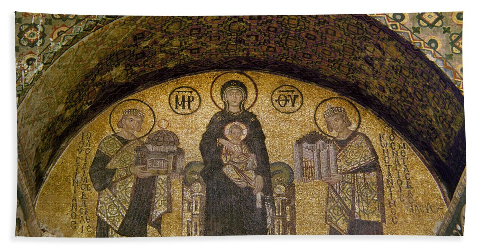 6th Century Hand Towel featuring the photograph Hagia Sophia: Mosaic by Granger