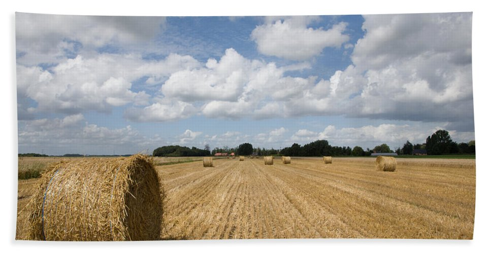 France Hand Towel featuring the photograph Harvest Time In France by Ian Middleton