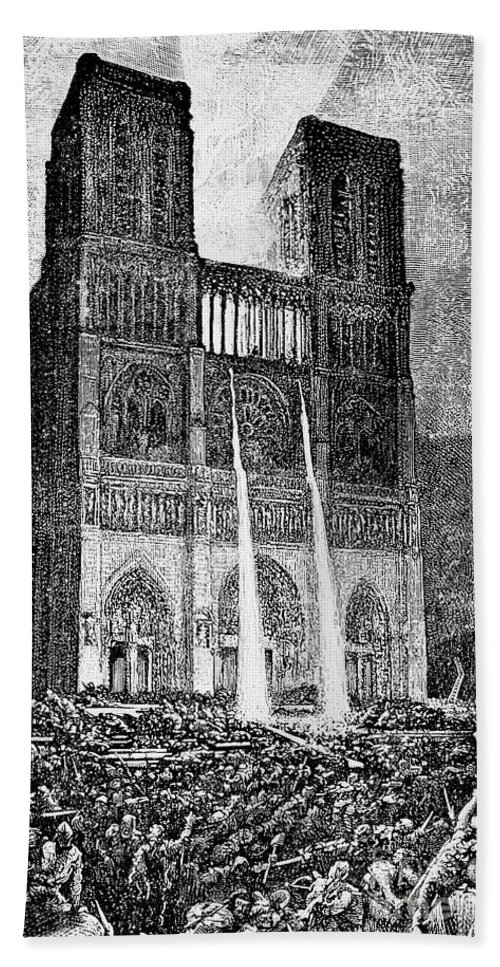 1831 Hand Towel featuring the photograph Hunchback Of Notre Dame by Granger