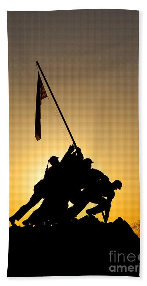 Iwo Jima Hand Towel featuring the photograph Iwo Jima Memorial by Brian Jannsen