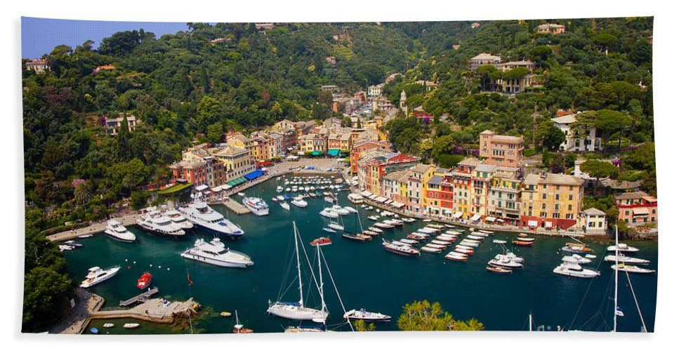 Portofino Bath Sheet featuring the photograph Portofino by Brian Jannsen