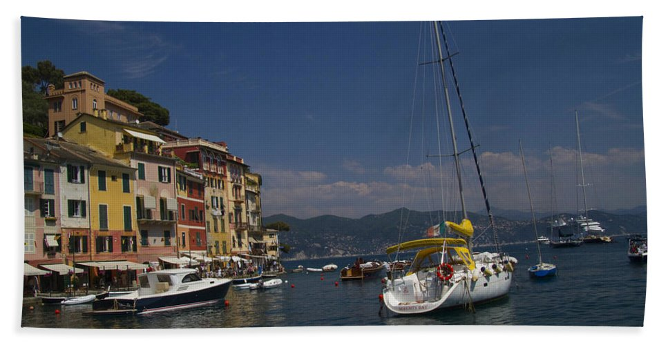 Portofino Hand Towel featuring the photograph Portofino In The Italian Riviera In Liguria Italy by David Smith