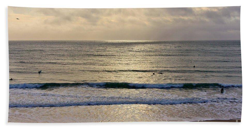 Praa Sands Cornwall Bath Towel featuring the photograph Praa Sands by Brian Roscorla