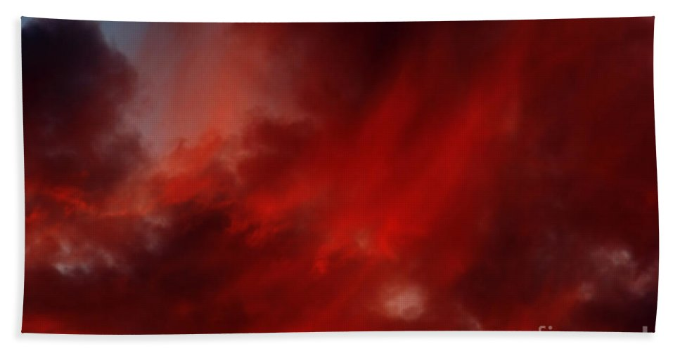 Rosy Sky Bath Sheet featuring the photograph Rosy Sky by Michal Boubin