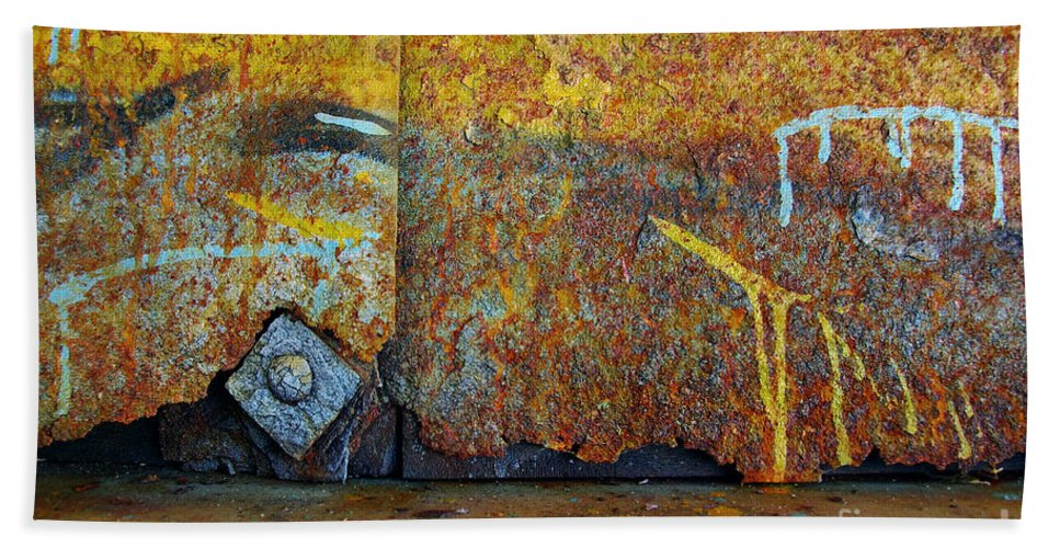 Abandoned Hand Towel featuring the photograph Rust Colors by Carlos Caetano