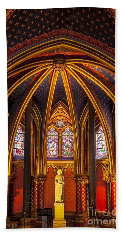 Architectural Hand Towel featuring the photograph Sainte Chapelle by Brian Jannsen