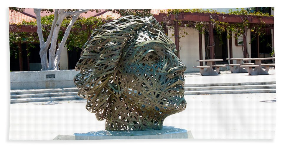 Artistic Sculpture Hand Towel featuring the digital art San Diego by Carol Ailles