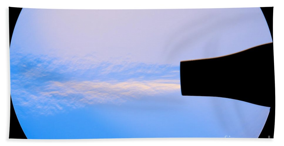Schlieren Hand Towel featuring the Schlieren Image Of A Hair Dryer by Ted Kinsman