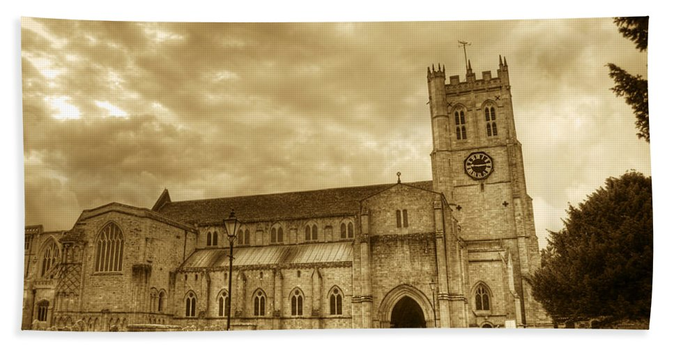 Christchurch Bath Sheet featuring the photograph The Priory by Chris Day