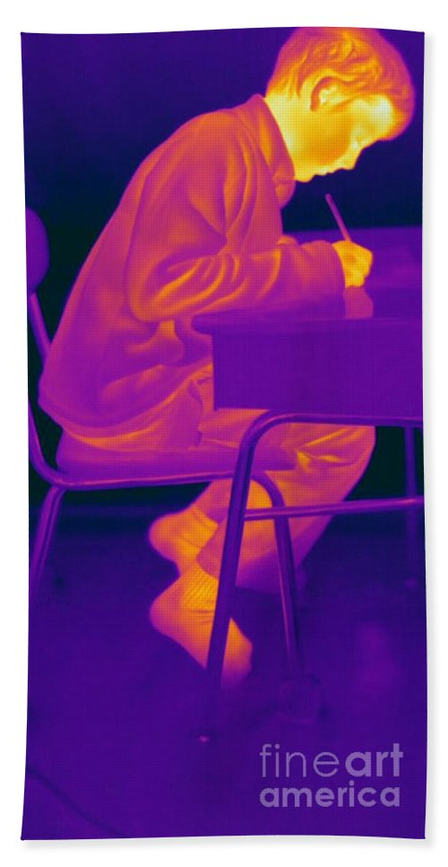 Thermogram Hand Towel featuring the Thermography by Ted Kinsman