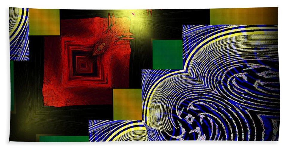 Twin Peaks Bath Sheet featuring the digital art Twin Peaks by Michael Damiani