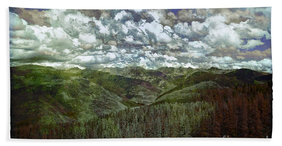 Vale Hand Towel featuring the photograph Vail Vista by Madeline Ellis
