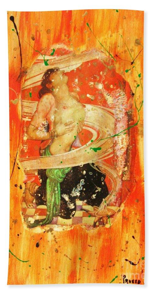 Figurative Bath Sheet featuring the painting Vizi E Virtu by Roberto Prusso