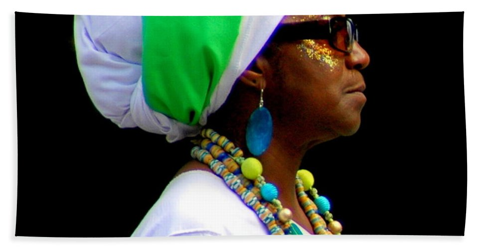 Parades Bath Sheet featuring the photograph West Indian Day Parade Brooklyn Ny by Mark Gilman