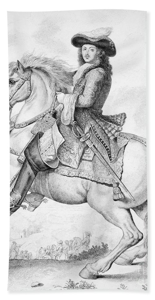 18th Century Hand Towel featuring the photograph Louis Xiv (1638-1715) by Granger
