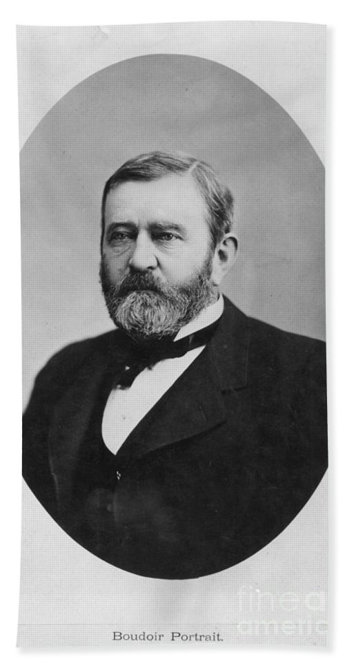 1860s Hand Towel featuring the photograph Ulysses S. Grant (1822-1885) by Granger
