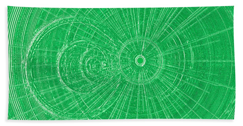 Vibrant Bath Sheet featuring the digital art Circle Art by David Pyatt