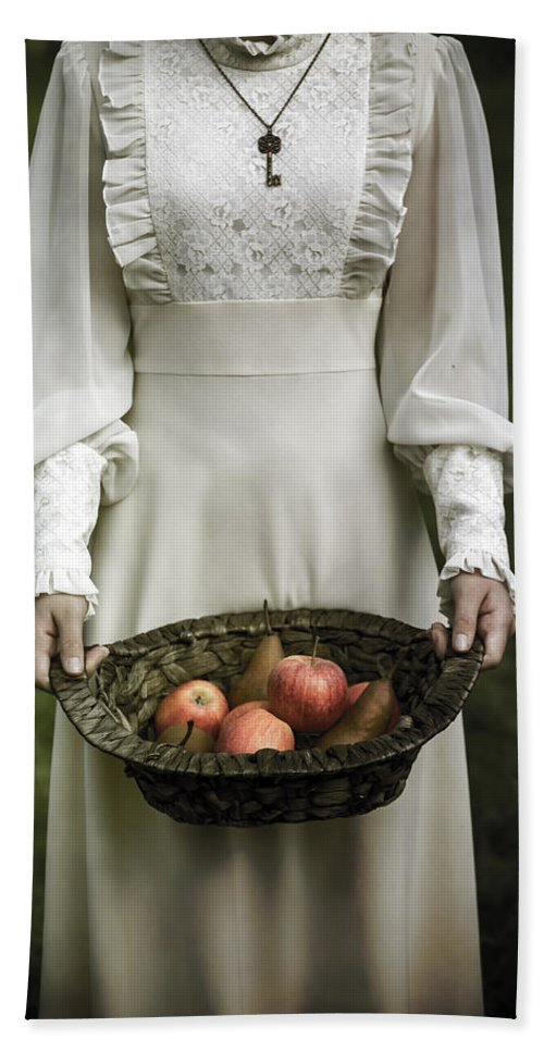 Woman Bath Towel featuring the photograph Basket With Fruits by Joana Kruse