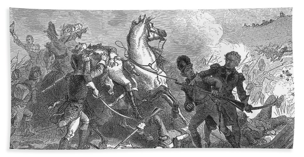 1815 Bath Towel featuring the photograph Battle Of New Orleans by Granger