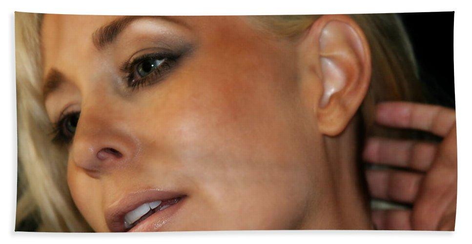 Young Bath Sheet featuring the photograph Blond Woman by Henrik Lehnerer