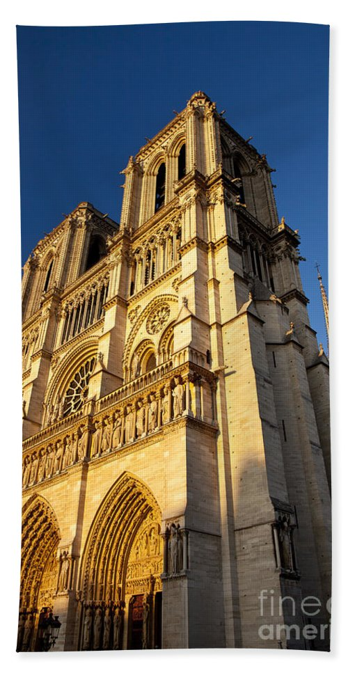 Cathedral Bath Sheet featuring the photograph Cathedral Notre Dame by Brian Jannsen
