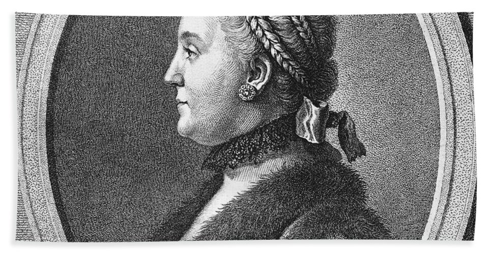 1762 Hand Towel featuring the photograph Catherine II (1729-1796) by Granger