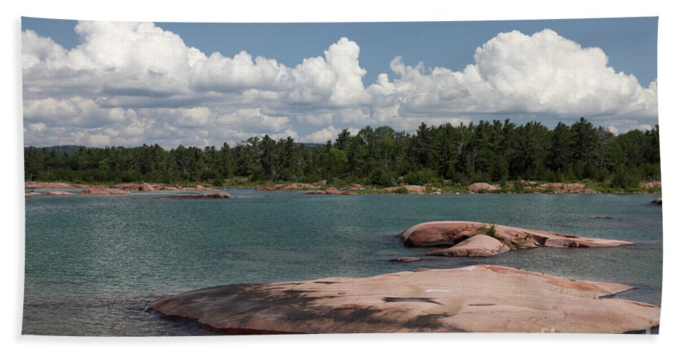 Bedrock Hand Towel featuring the photograph Georgian Bay, Canada by Ted Kinsman