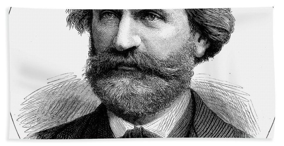1873 Bath Sheet featuring the photograph Giuseppe Verdi (1813-1901) by Granger