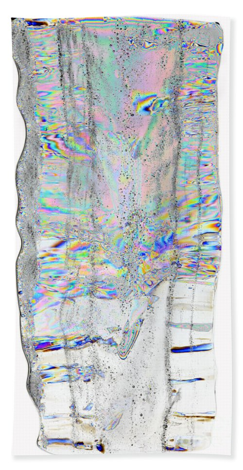 Ice Hand Towel featuring the photograph Icicle Cross Section by Ted Kinsman
