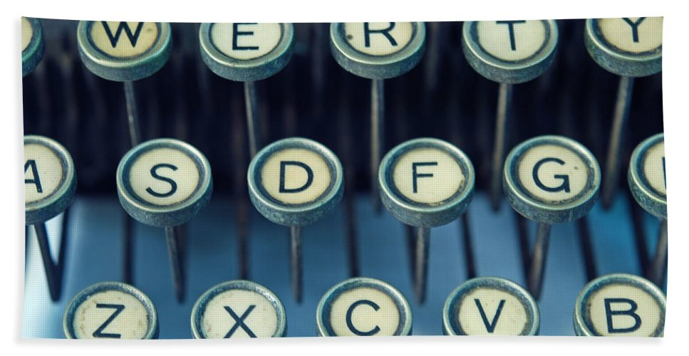 Typewriter Bath Sheet featuring the photograph Remington 11 Detail by Kay Lovingood