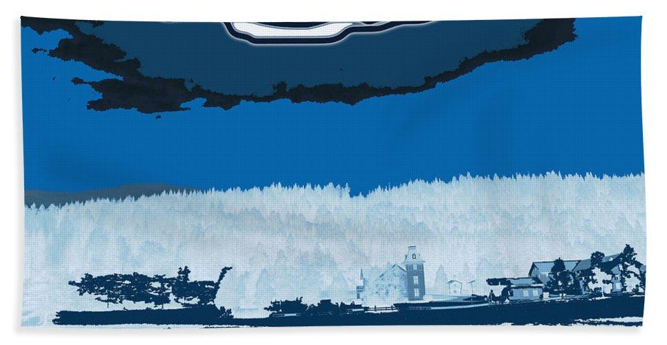 Norway Landscape Hand Towel featuring the digital art Snowy Landscape by Augusta Stylianou