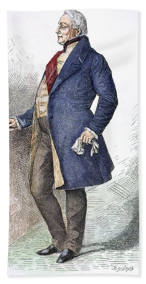 19th Century Hand Towel featuring the photograph William Iv (1765-1837) by Granger