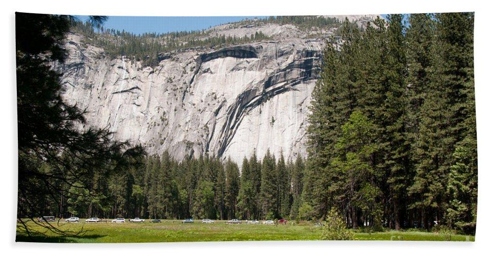 Bath Sheet featuring the digital art Yosemite by Carol Ailles
