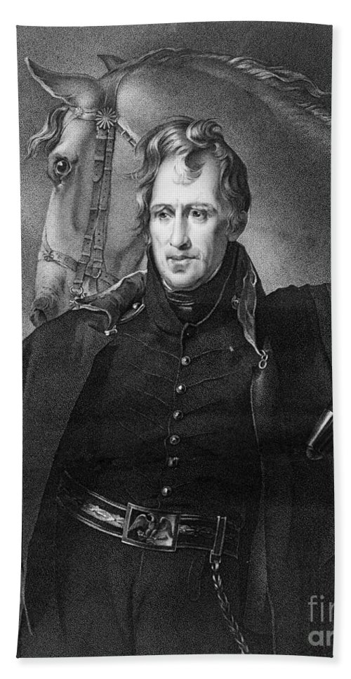1820 Bath Towel featuring the photograph Andrew Jackson (1767-1845) by Granger